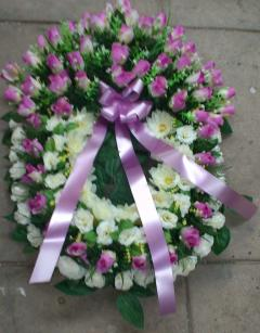 Coroa de Flores Artificiais Oval