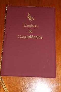 Livro Condolências Pvc
