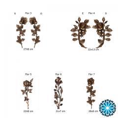 aplicações em metal para campas e jazigos(Sepulturas) flores