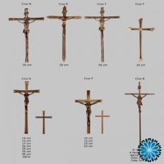 Crucifixo metal, cruz com cristo metal para campas e jazigos