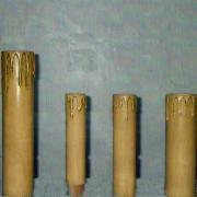 Velas madeira com pingos