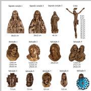 Aplicações em metal para campas e jazigos(Sepulturas)Cristos, Rosto Cristo,Sagrado coração Jesus Sagrada Família e nossa Senhora