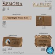letras para livros cemitério, placas gravadas metal pergaminhos metal