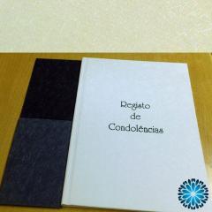 Livro Condolências immer com mica A4 folhas assinaturas e micas Cartões