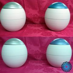 urna cinzas biodegradável branca/azul e cinza