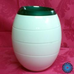 Urna de cinzas biodegradável Branca / Verde